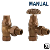Crocus Antique Brass Manual Radiator Valve